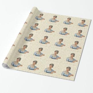 Jane Austen-Zitate und Porträt-Bild Geschenkpapier