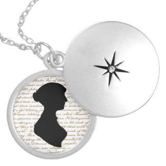 Jane AustenLocket Runde Medaillon Halskette