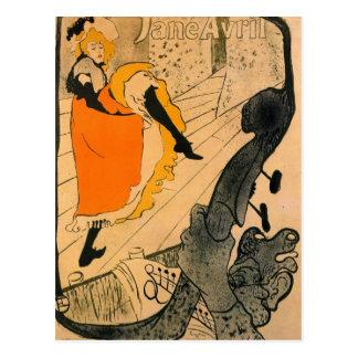 Jane Avril durch Toulouse-Lautrec Postkarte