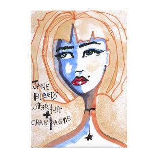 Jane blutet Stardust und Champagne Leinwanddruck