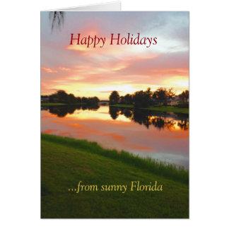 Janice kundenspezifische tropische Weihnachtskarte Grußkarte