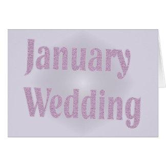 Januar-Hochzeit Karte