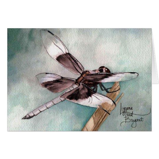 Januar-Libelle Grußkarte