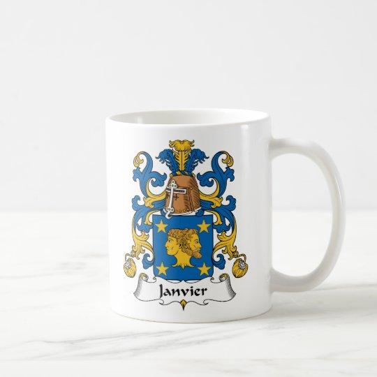 Janvier Familienwappen Kaffeetasse