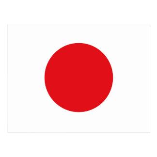 Japan-Flagge Postkarte