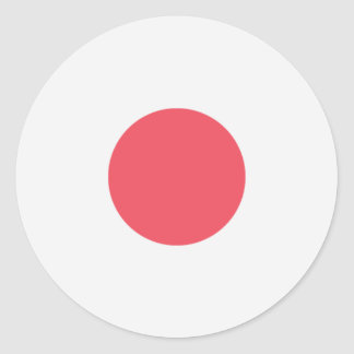 Japan-Flagge Runder Aufkleber