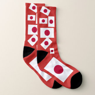 Japan-Flaggen-bunte Socken