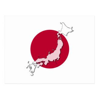 Japan-Flaggenkarten-Postkarten-aufgehende Sonne Postkarte