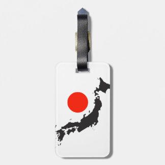 Japan-Karten-Kontur und -kreis Koffer Anhänger