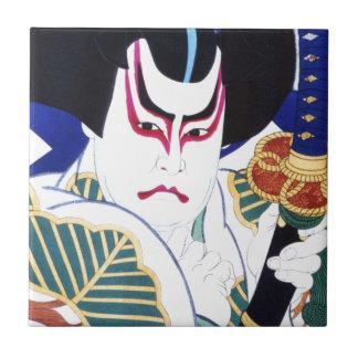 Japaner Kabuki Schauspieler-Kunst durch Natori Keramikfliese