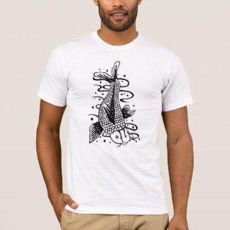 Japaner Koi Fisch-Tätowierungs-Art-Neuheits-T - T-Shirt