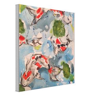 Japaner Koi Watercolor-Leinwand-Druck 12x12 Leinwanddruck