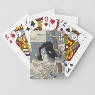 Japaner Woodblock Druck durch Kunichika Spielkarten