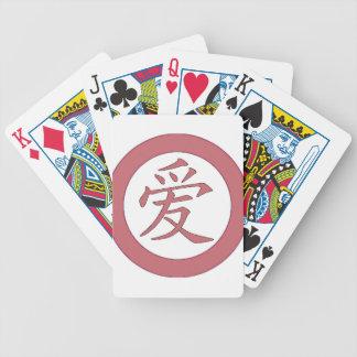 Japanisch - chinesisches Liebe 爱 Bicycle Spielkarten