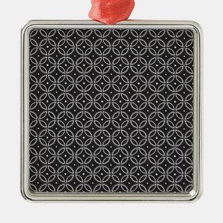 Japanisch Silbernes Ornament