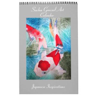 Japanische Art Kunstkalender durch Sacha Grossel Wandkalender