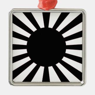 Japanische aufgehende Sonne-Flagge Silbernes Ornament