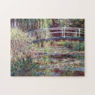 Japanische Brücken-Symphonie in Rose Monet feiner