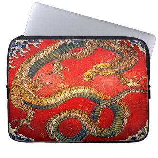 Japanische Drache-Kunst durch Hokusai Laptop-Hülse Laptop Sleeve