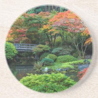 Japanische Gärten im Herbst in Portland, Oregon 3 Getränkeuntersetzer