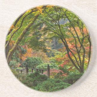 Japanische Gärten im Herbst in Portland, Oregon 4 Getränkeuntersetzer