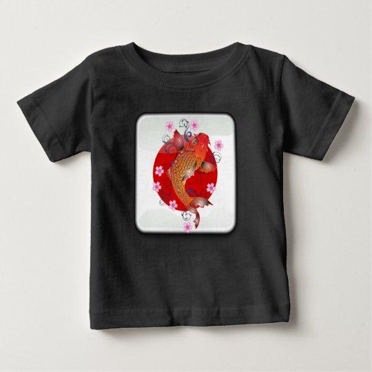 Japanische glatte Flagge Baby T-shirt