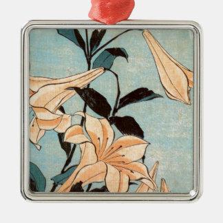 Japanische Iris Silbernes Ornament