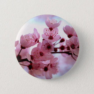 Japanische Kirschbaum-Blüten Runder Button 5,1 Cm