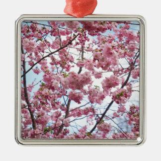 Japanische Kirschblüte Silbernes Ornament