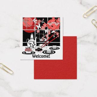 Japanische Küche Quadratische Visitenkarte