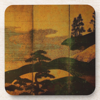 Japanische Landschaft Asiatisch-angeredete Untersetzer