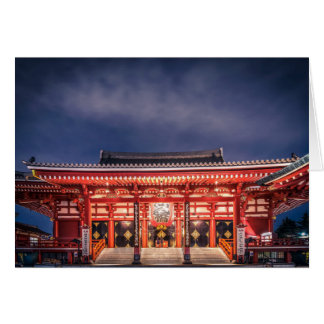 Japanische Paare, die an Asakusa Tempel, Tokyo Karte