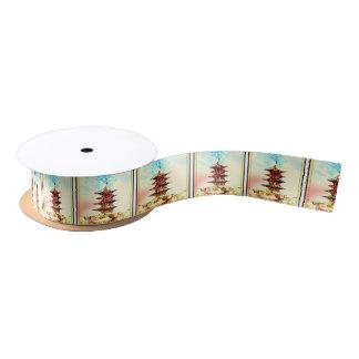 Japanische Pagoden-Geschenk-Verpackungs-Reihe Satinband