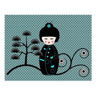 Japanische Puppe Postkarte