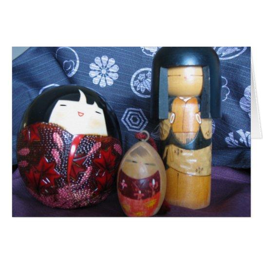 Japanische Puppen Karte