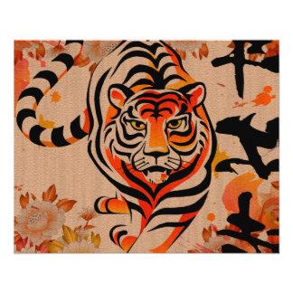 japanische Tigerkunst 11,4 X 14,2 Cm Flyer