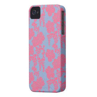Japanischer Blumendruck-- rosa u. lila iPhone 4 Cover