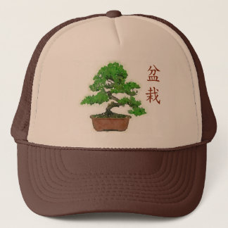 Japanischer Bonsais-Baum-Sommer-Fernlastfahrer-Hut Truckerkappe