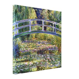 Japanischer Brücken-und Wasser-Lilien-Teich Leinwanddruck