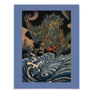 Japanischer Fliegen-Drache Poster