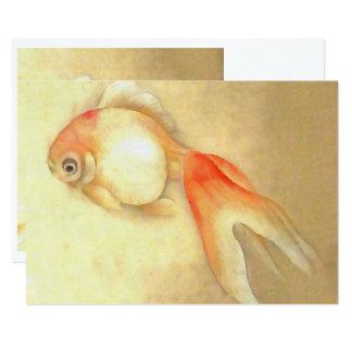 Japanischer Goldfisch 12,7 X 17,8 Cm Einladungskarte