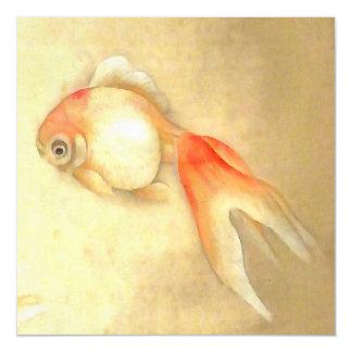 Japanischer Goldfisch Magnetische Karte