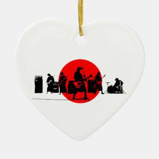 Japanisches Band Keramik Herz-Ornament