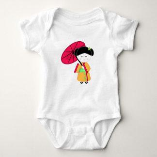 Japanisches Geisha-Mädchen Baby Strampler