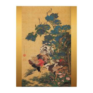 Japanisches Holz des Malerei-Hahn-neuen Jahr-2017 Holzdruck