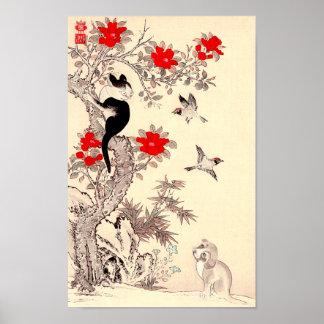 Japanisches Kätzchen-und Welpen-Plakat Poster
