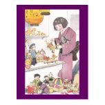 Japanisches Mädchen und Puppen Postkarten