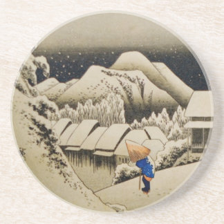 Japanisches Winter-1:2 Getränkeuntersetzer