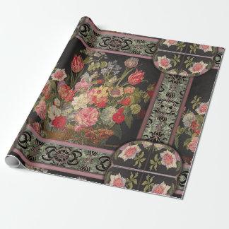 Jaquebloom mit Blumen Geschenkpapier