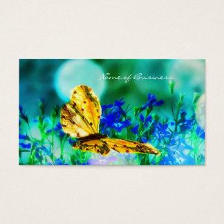 Jardin d'agrément élégant de bleu de papillon cartes de visite